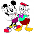 Tô tranh Mickey- Donald